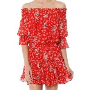MISA Los Angeles off the shoulder dress